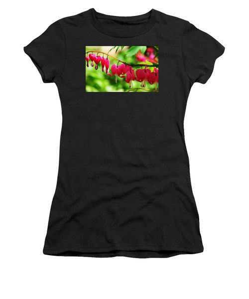 Romantic Bleeding Hearts Women's T-Shirt (Athletic Fit)