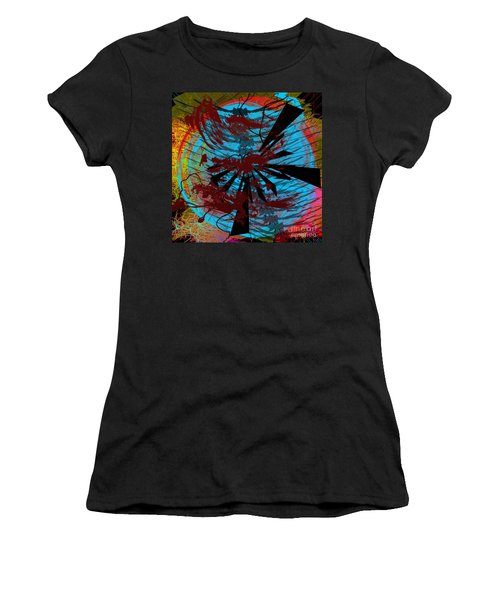 Women's T-Shirt (Athletic Fit) featuring the digital art Bloody Mess by Clayton Bruster