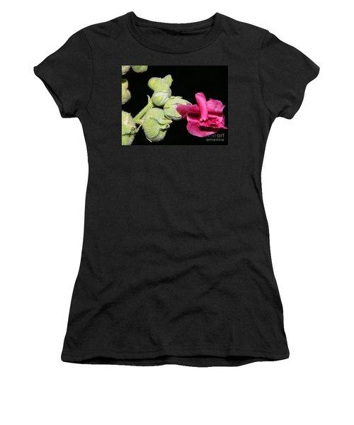 Blooming Pink Hollyhock Women's T-Shirt