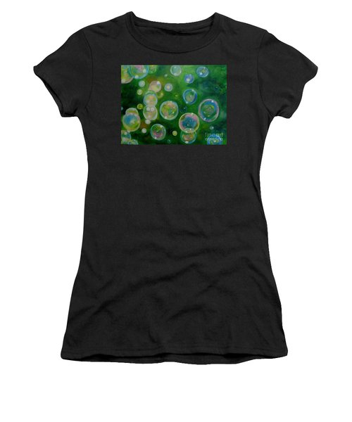 Blowing Bubbles Women's T-Shirt (Athletic Fit)
