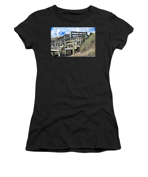 Blowing Rocks Women's T-Shirt (Athletic Fit)