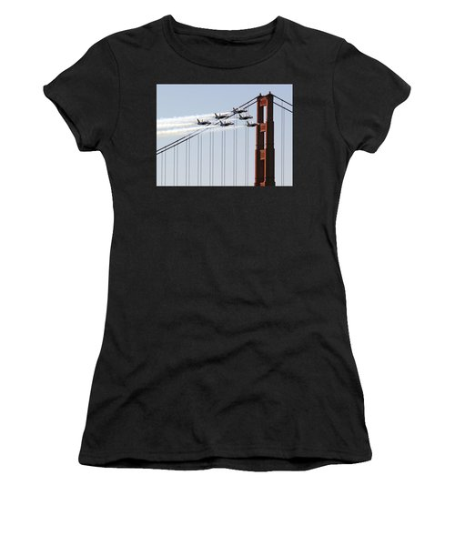 Blue Angels And The Bridge Women's T-Shirt (Athletic Fit)