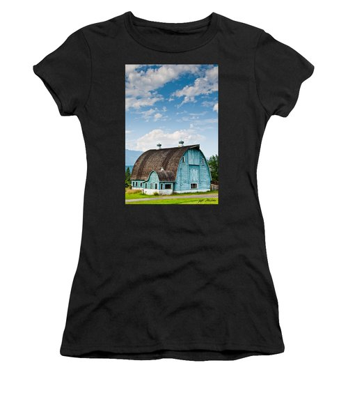 Blue Barn In The Stillaguamish Valley Women's T-Shirt (Athletic Fit)