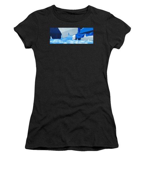Blue Beach Umbrellas 2 Women's T-Shirt