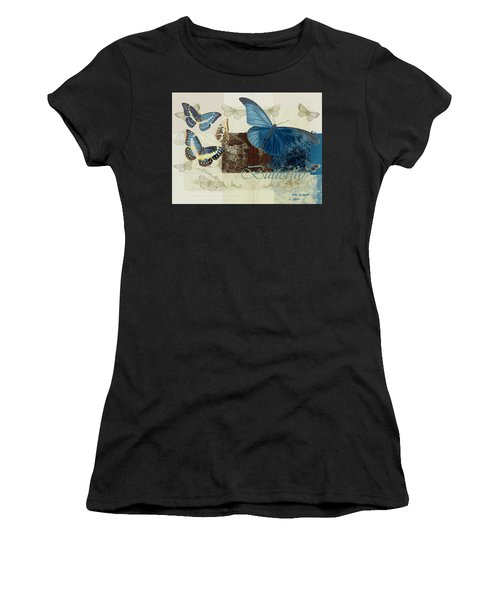 Blue Butterfly - J152164152-01 Women's T-Shirt (Athletic Fit)