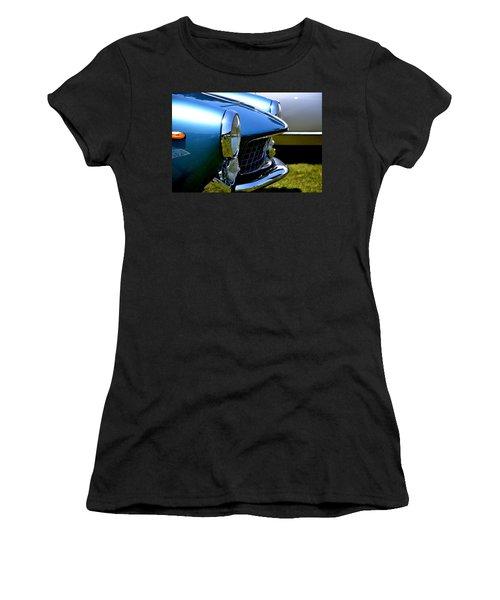 Women's T-Shirt (Junior Cut) featuring the photograph Blue Car by Dean Ferreira