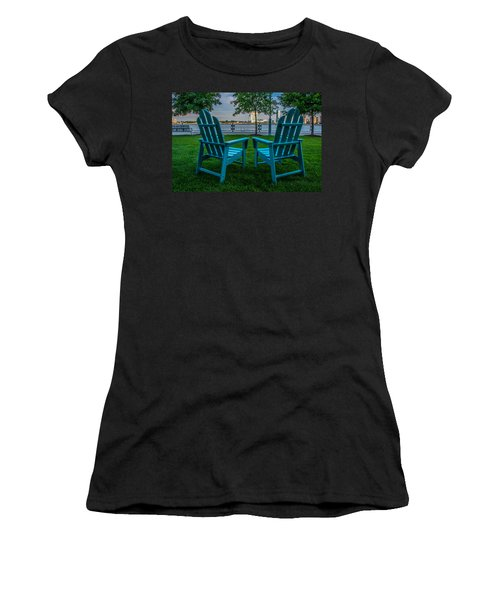 Blue Chairs Women's T-Shirt (Athletic Fit)