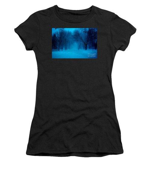 Blue Chicago Blizzard  Women's T-Shirt (Athletic Fit)