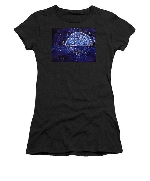 Blue Moonrise Original Painting Women's T-Shirt (Athletic Fit)