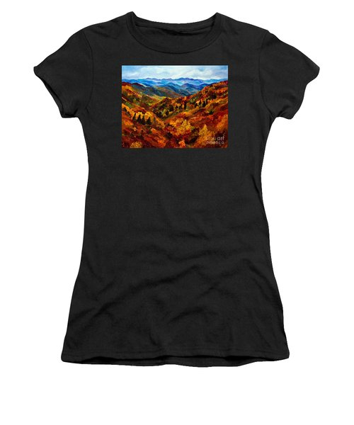 Blue Ridge Mountains In Fall II Women's T-Shirt (Athletic Fit)