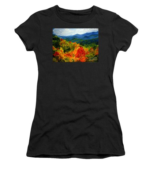 Blue Ridge Mountains In Fall Women's T-Shirt (Junior Cut) by Julie Brugh Riffey