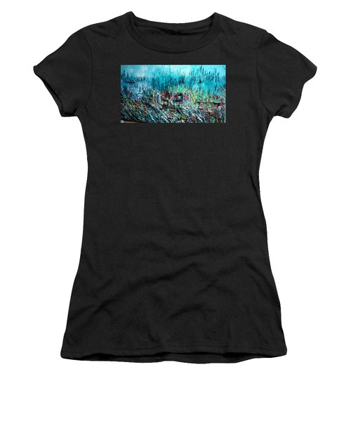 Blue Skies Chicago - Sold Women's T-Shirt (Junior Cut) by George Riney