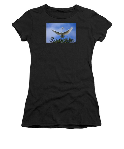 Blue Sky Landing Women's T-Shirt (Athletic Fit)