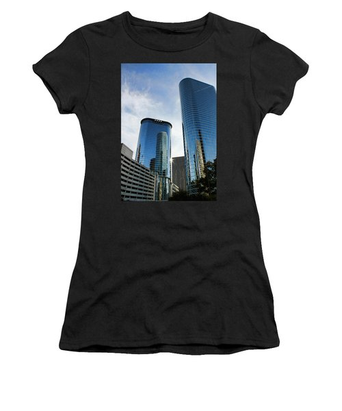 Blue Skyscrapers Women's T-Shirt (Athletic Fit)