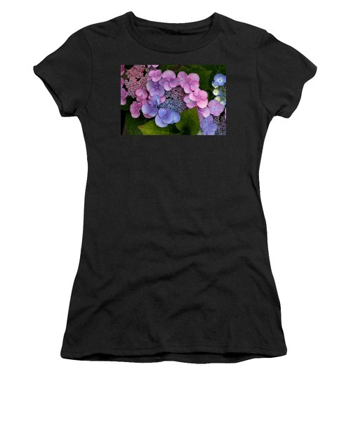 Blueberries And Cream Women's T-Shirt (Junior Cut) by Living Color Photography Lorraine Lynch