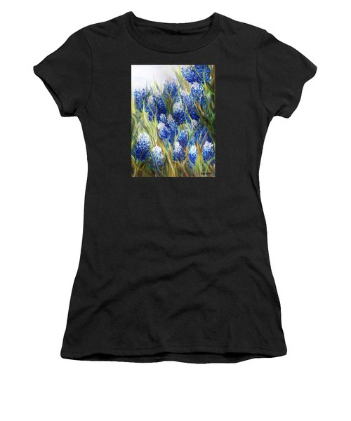 Bluebonnet Barrage  Women's T-Shirt (Athletic Fit)