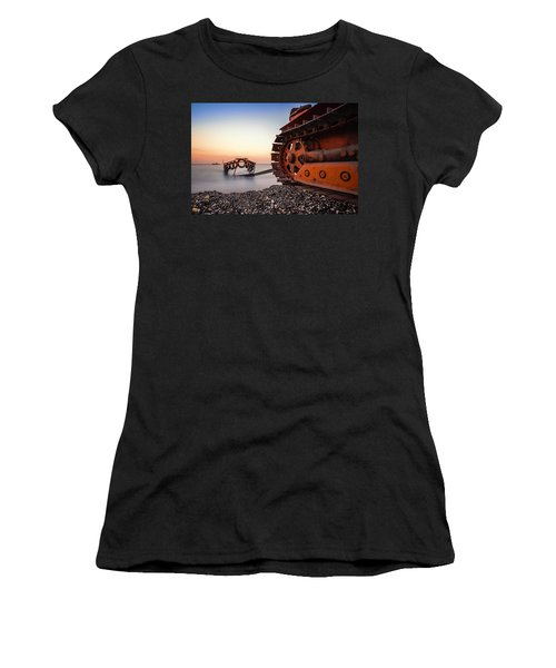 Boat Tractor Women's T-Shirt (Athletic Fit)