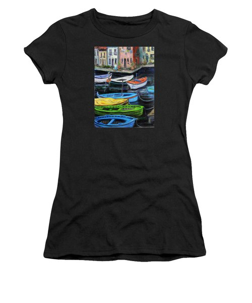 Boats In Front Of The Buildings II Women's T-Shirt (Athletic Fit)