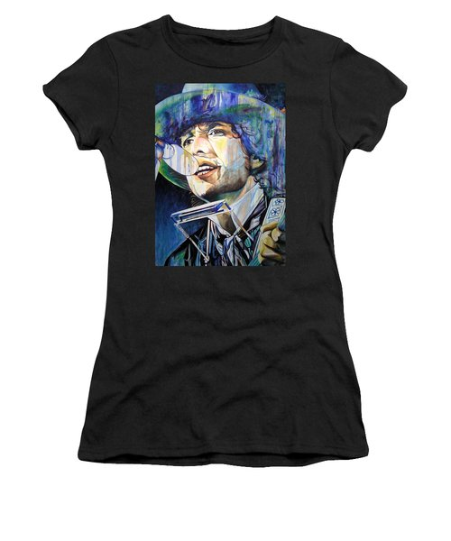 Bob Dylan Tangled Up In Blue Women's T-Shirt (Athletic Fit)