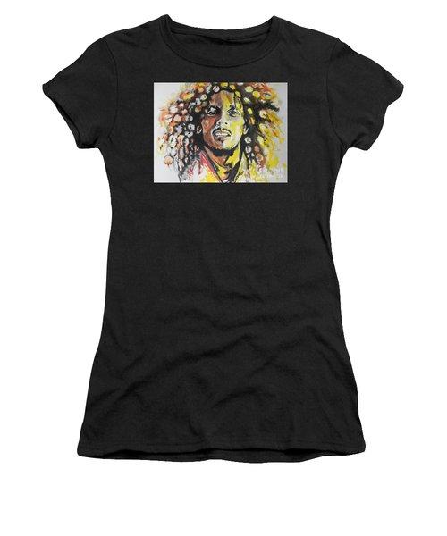 Bob Marley 02 Women's T-Shirt (Athletic Fit)