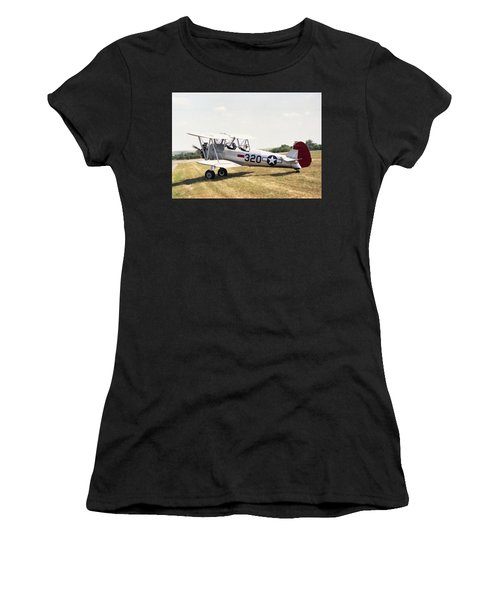 Women's T-Shirt featuring the photograph Boeing Stearman by Paul Gulliver