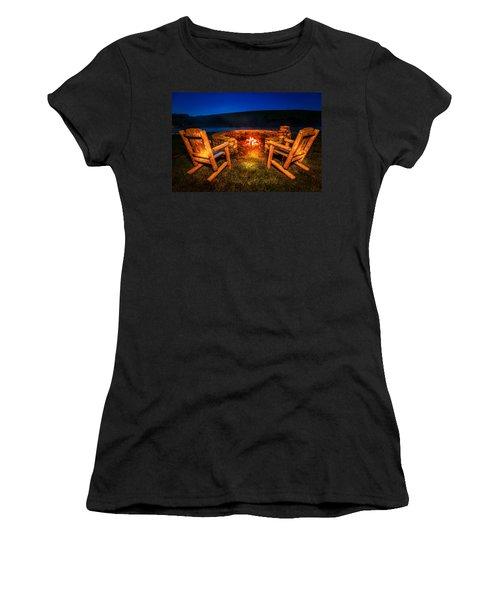 Bonfire Women's T-Shirt (Junior Cut) by Alexey Stiop