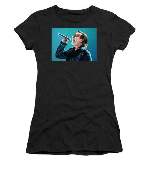 Bono Of U2 Painting Women's T-Shirt