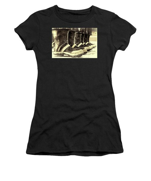Boots On The Ground Monotone Women's T-Shirt