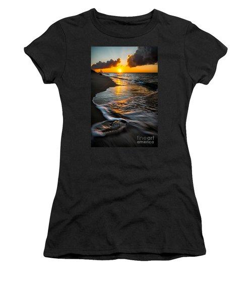 Boracay Sunset Women's T-Shirt (Junior Cut) by Adrian Evans