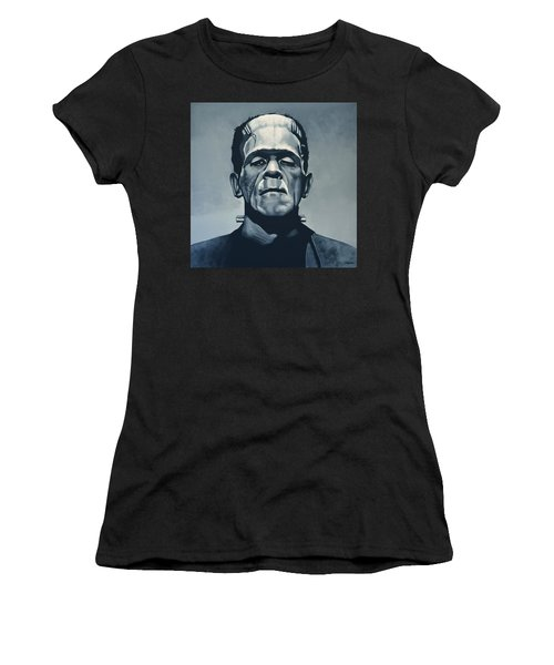 Boris Karloff As Frankenstein  Women's T-Shirt