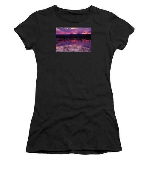 Bosque Sunset - Purple Women's T-Shirt (Athletic Fit)