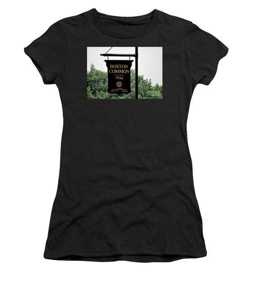 Boston Common Ma Women's T-Shirt (Athletic Fit)