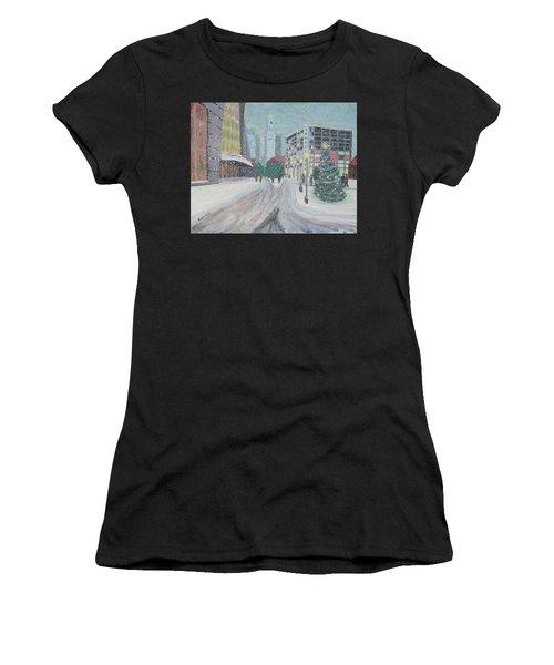Boston First Snow Women's T-Shirt