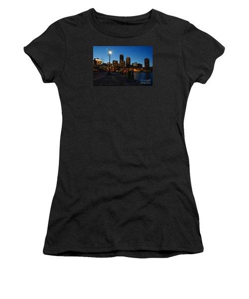 Boston Harbour Women's T-Shirt (Athletic Fit)