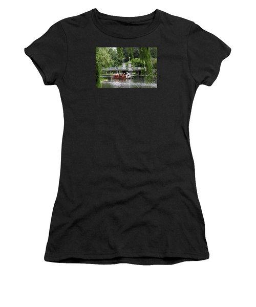 Boston Swan Boat Women's T-Shirt (Junior Cut) by Christiane Schulze Art And Photography