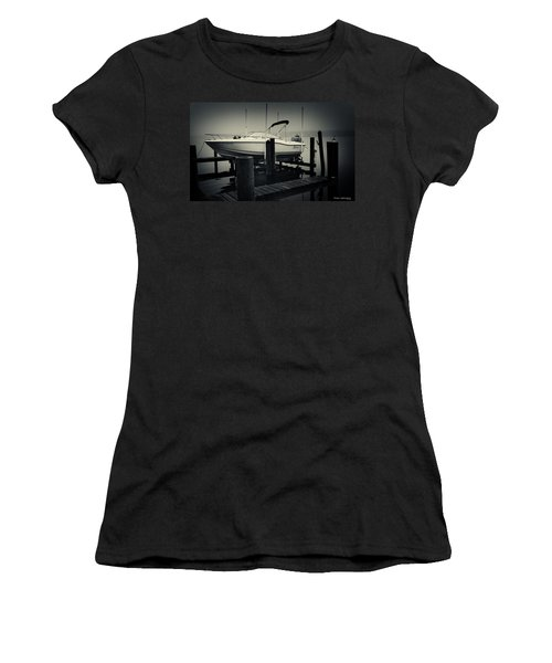 Boston Whaler In The Fog Women's T-Shirt (Athletic Fit)