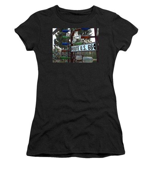 Bottle Trees Route 66 Women's T-Shirt