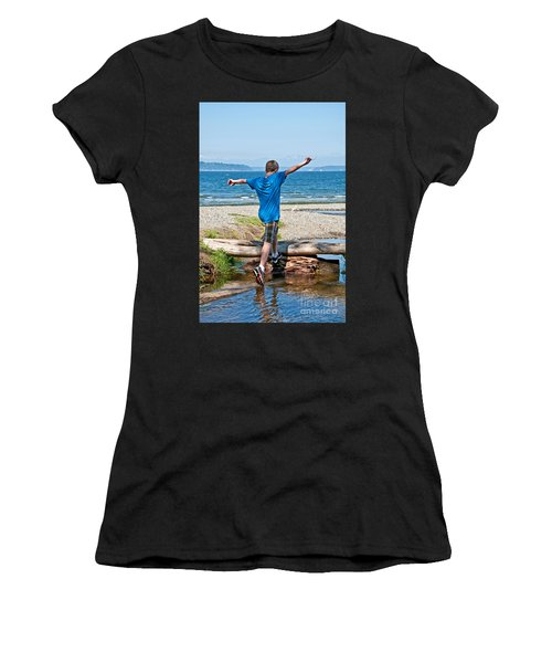 Boyhood Fun Art Prints Women's T-Shirt (Athletic Fit)
