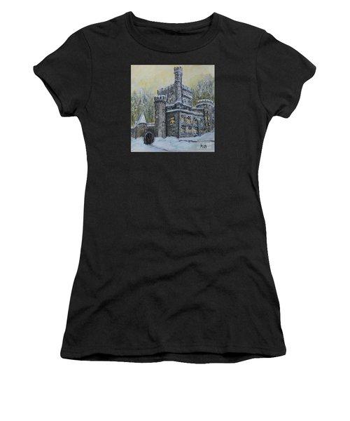 Brandeis University Castle Women's T-Shirt (Athletic Fit)