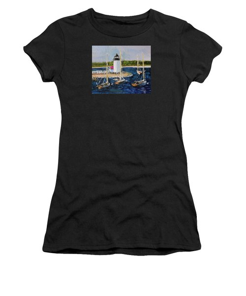 Brant Lighthouse Nantucket Women's T-Shirt (Athletic Fit)