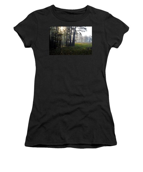 Breaking Through Morning Fog Women's T-Shirt (Athletic Fit)