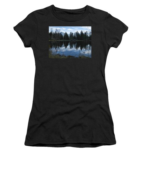 Brewster Lake North Bend Wa Women's T-Shirt (Athletic Fit)