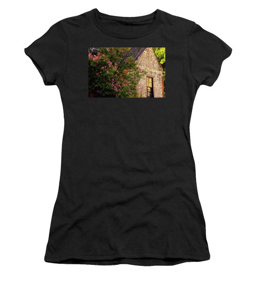 Women's T-Shirt (Junior Cut) featuring the photograph Brick And Myrtle by Rodney Lee Williams