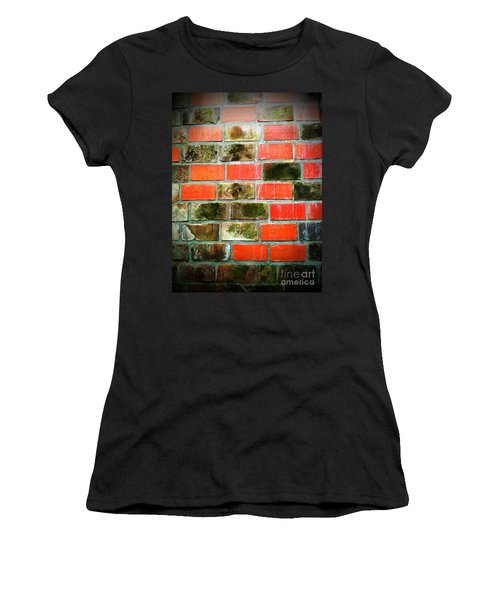 Brick Wall Women's T-Shirt (Athletic Fit)