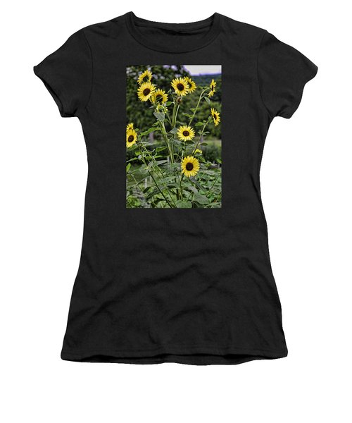 Bright Sunflowers Women's T-Shirt (Junior Cut) by Denise Romano