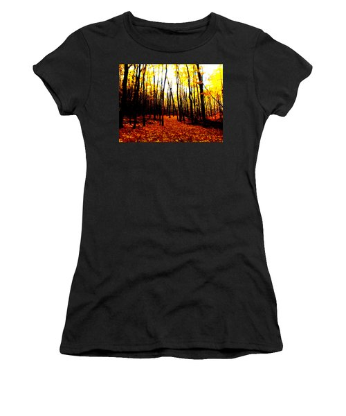 Bright Woods Women's T-Shirt (Athletic Fit)