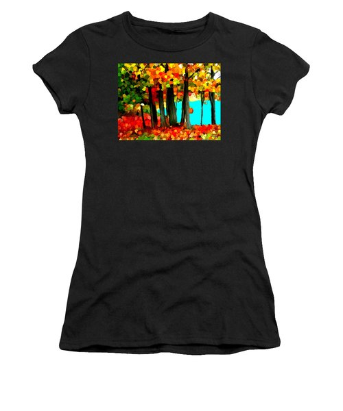 Brightness In The Forest Women's T-Shirt (Junior Cut) by Bruce Nutting