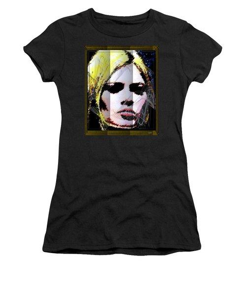 Women's T-Shirt (Junior Cut) featuring the digital art Brigitte Bardot by Daniel Janda