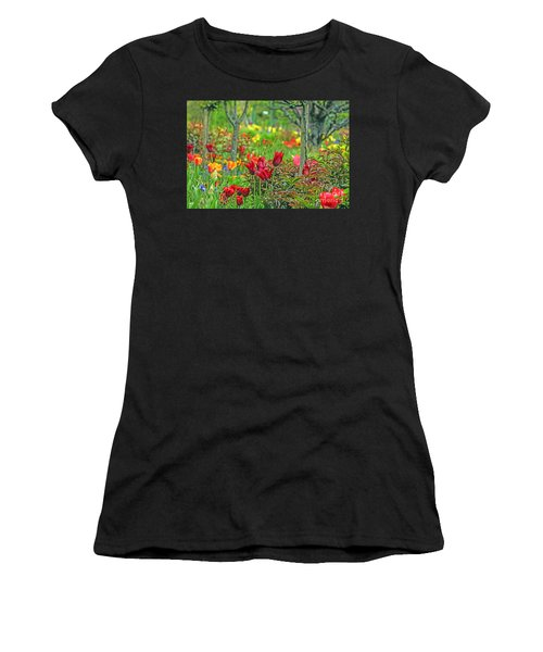 Brilliance Of Burgundy Women's T-Shirt (Athletic Fit)