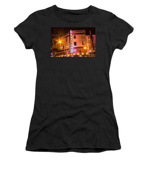 Women's T-Shirt (Junior Cut) featuring the photograph Broadway At Night by Suzanne Luft